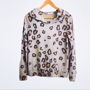 12 PM by Mon Ami Animal Print Hoodie Sweatshirt